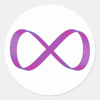 Símbolo infinito infinity pegatina redonda