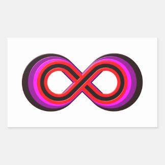 Símbolo infinito infinity pegatina rectangular