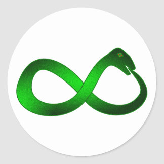 Símbolo infinito Ouroboros infinity Pegatina Redonda