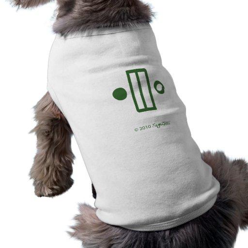 Símbolo inflexible verde de SymTell Ropa De Mascota