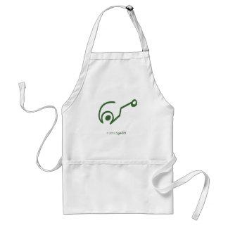 Símbolo ingenuo verde de SymTell Delantal