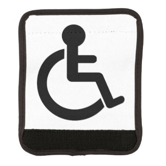 Símbolo inhabilitado incapacidad funda para asa de maleta