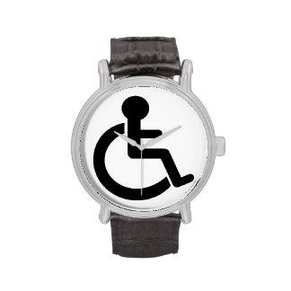 Símbolo inhabilitado incapacidad relojes de pulsera
