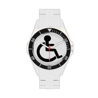Símbolo inhabilitado incapacidad reloj de mano