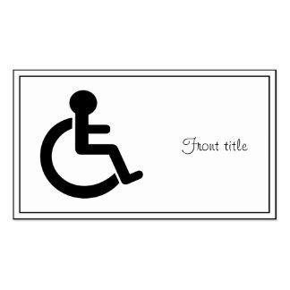 Símbolo inhabilitado incapacidad tarjeta de negocio