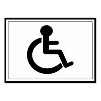 Símbolo inhabilitado incapacidad tarjetas de visita grandes