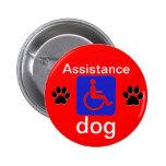 símbolo inhabilitado perro de la ayuda con las pat pins