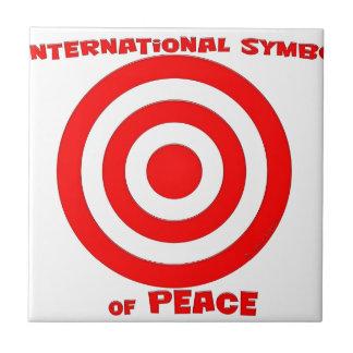 Símbolo internacional de la paz azulejo cuadrado pequeño