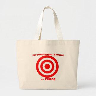 Símbolo internacional de la paz bolsas lienzo