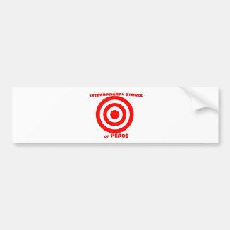 Símbolo internacional de la paz pegatina de parachoque