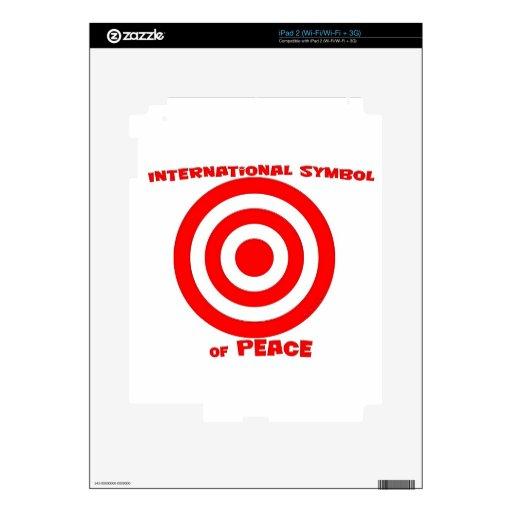 Símbolo internacional de la paz skins para eliPad 2