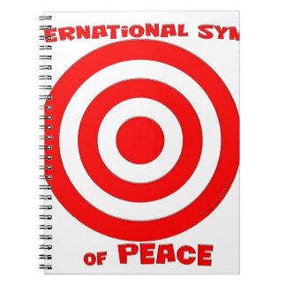 Símbolo internacional de la paz libros de apuntes