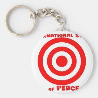 Símbolo internacional de la paz llavero redondo tipo pin