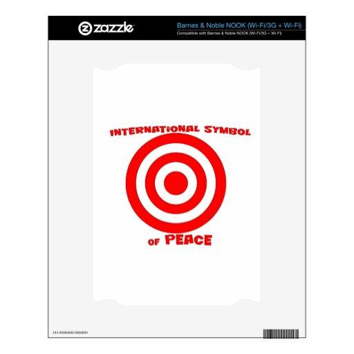 Símbolo internacional de la paz NOOK calcomanía