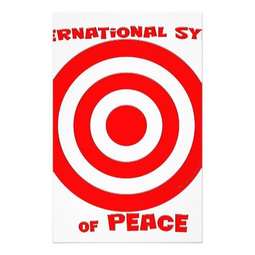 Símbolo internacional de la paz papelería personalizada