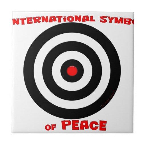 Símbolo internacional de la paz - paz en la tierra azulejo cerámica