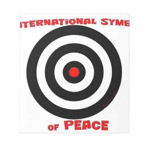Símbolo internacional de la paz - paz en la tierra libretas para notas