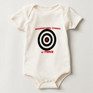 Símbolo internacional de la paz - paz en la tierra body para bebé