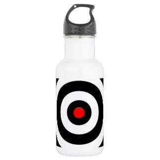 Símbolo internacional de la paz - paz en la tierra botella de agua de acero inoxidable