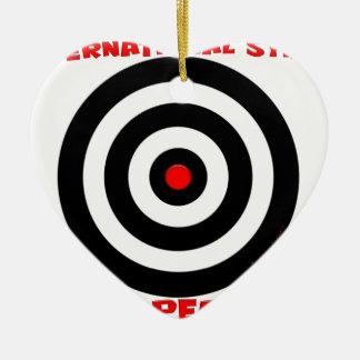 Símbolo internacional de la paz - paz en la tierra adorno de cerámica en forma de corazón