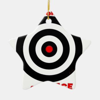 Símbolo internacional de la paz - paz en la tierra adorno de cerámica en forma de estrella