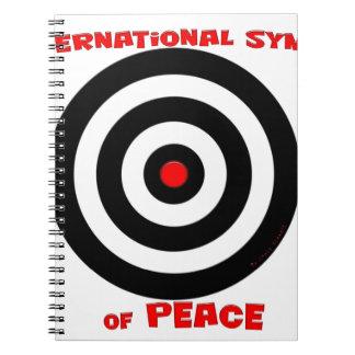 Símbolo internacional de la paz - paz en la tierra libro de apuntes