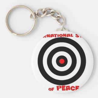 Símbolo internacional de la paz - paz en la tierra llavero redondo tipo pin