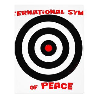 Símbolo internacional de la paz - paz en la tierra plantillas de membrete