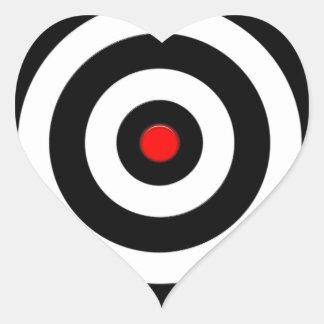 Símbolo internacional de la paz - paz en la tierra pegatina en forma de corazón