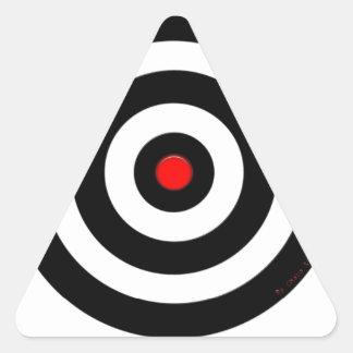Símbolo internacional de la paz - paz en la tierra pegatina triangular