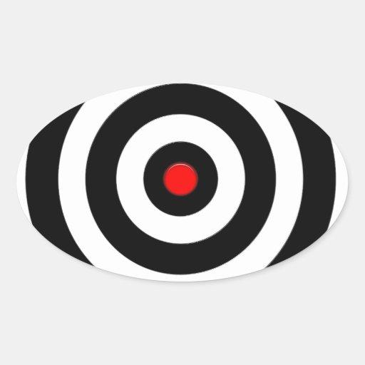 Símbolo internacional de la paz - paz en la tierra calcomanía de óval