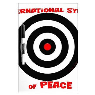 Símbolo internacional de la paz - paz en la tierra pizarras blancas