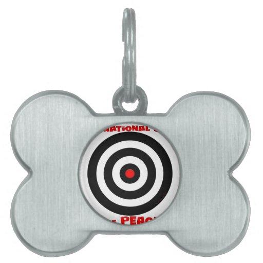 Símbolo internacional de la paz - paz en la tierra placa de mascota