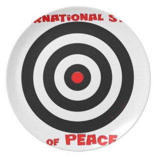 Símbolo internacional de la paz - paz en la tierra plato de comida