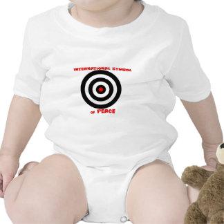 Símbolo internacional de la paz - paz en la tierra trajes de bebé