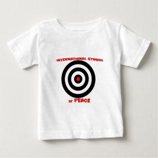 Símbolo internacional de la paz - paz en la tierra playera de bebé