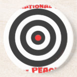 Símbolo internacional de la paz - paz en la tierra posavasos para bebidas