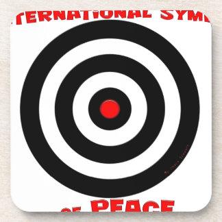 Símbolo internacional de la paz - paz en la tierra posavaso