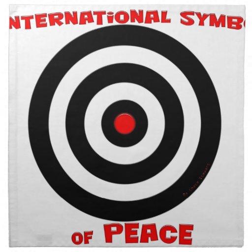 Símbolo internacional de la paz - paz en la tierra servilleta imprimida