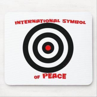 Símbolo internacional de la paz - paz en la tierra tapete de ratones