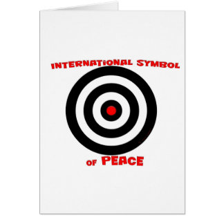 Símbolo internacional de la paz - paz en la tierra tarjeta de felicitación