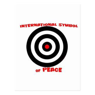 Símbolo internacional de la paz - paz en la tierra tarjetas postales