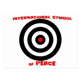 Símbolo internacional de la paz - paz en la tierra postal
