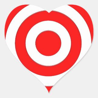 Símbolo internacional de la paz pegatina en forma de corazón