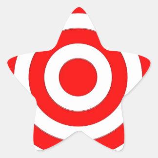 Símbolo internacional de la paz pegatina en forma de estrella
