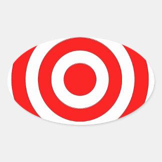 Símbolo internacional de la paz pegatina ovalada