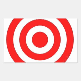 Símbolo internacional de la paz pegatina rectangular
