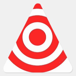 Símbolo internacional de la paz pegatina triangular