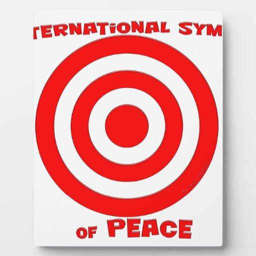 Símbolo internacional de la paz placas de plastico