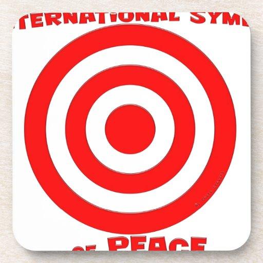 Símbolo internacional de la paz posavasos
